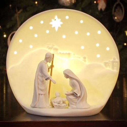 Belleek Nativity Luminaire Lamp